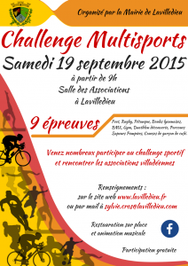 Affiche challenge multisports 2015