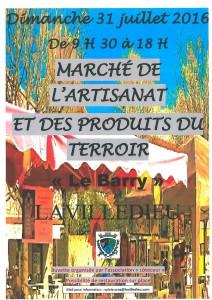 Marché artisanal 31.07.2016