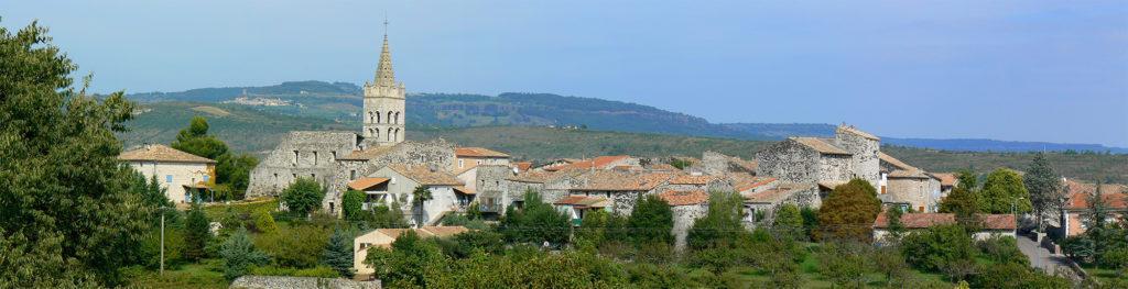 Panorama de Lavilledieu - Village vu de route de Champeyraud